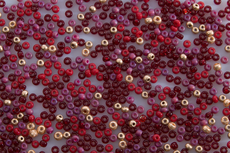 Bordeaux Gold - Rocaille Bead Mix